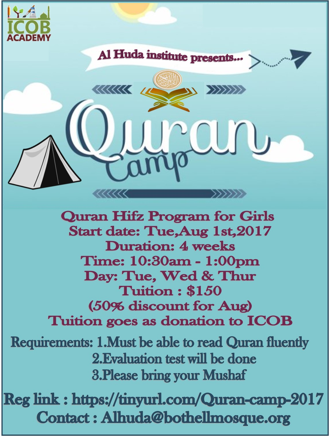 Quran camp for girls 2017